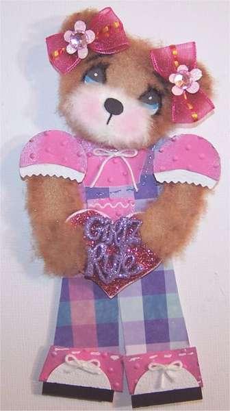Little girl tear bear