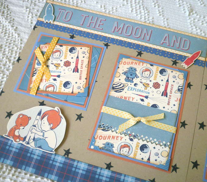 To The Moon and Back 2 page Layout