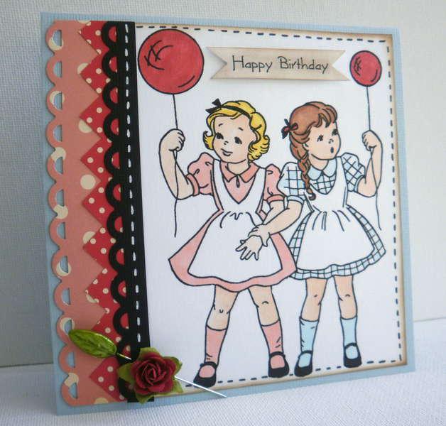 Sugar Kissed Cottage Digital Stamp - Party Girls