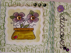 Potted Flowers ATC