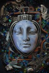 Shrine to the Goddess Indigo - for Finnabair Inspired by Denim challenge