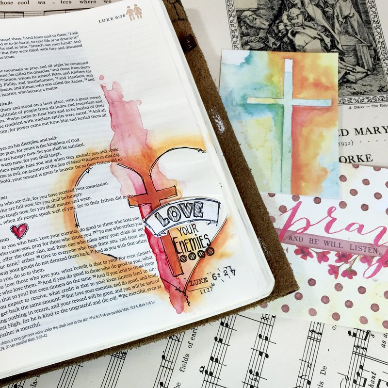 Love Your Enemies Bible Journaling Jamie Dougherty