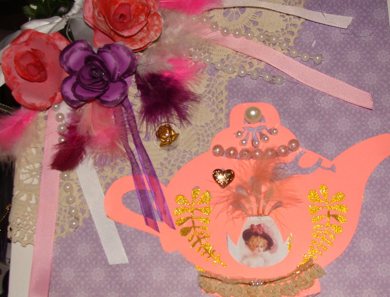 Shabby Chic Wall Hanging Tea Time