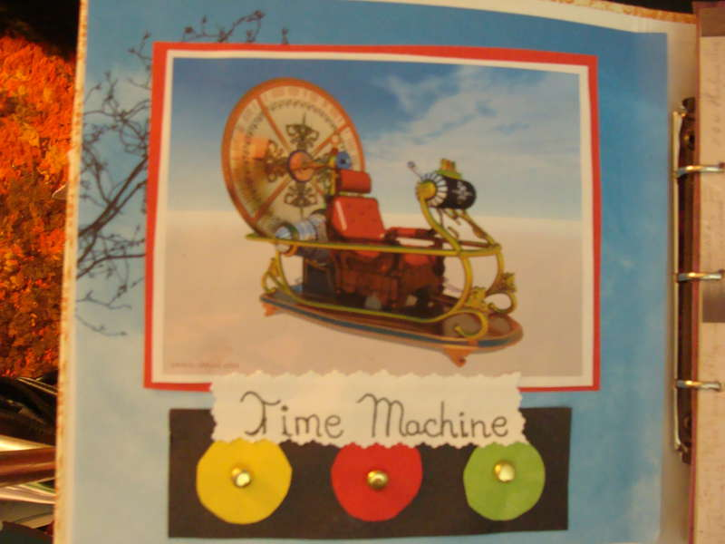 Time Machine inside cover