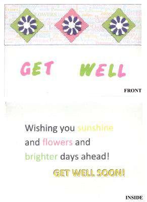 Get Well Flowers Card