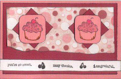 Many Thanks Cupcake Card