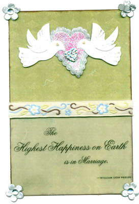 Wedding Dove Marriage Quote Card