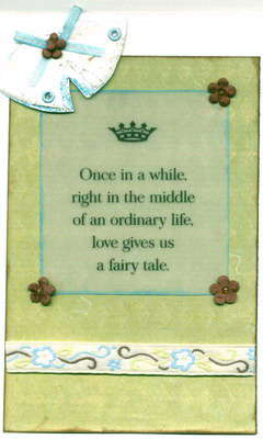 Wedding Bell Fairy Tale Quote Card