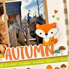 Autumn Fall Scrapbook Layout