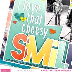 Smile Scrapbook Page