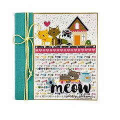 Meow Cat Scrapbook Album Kit