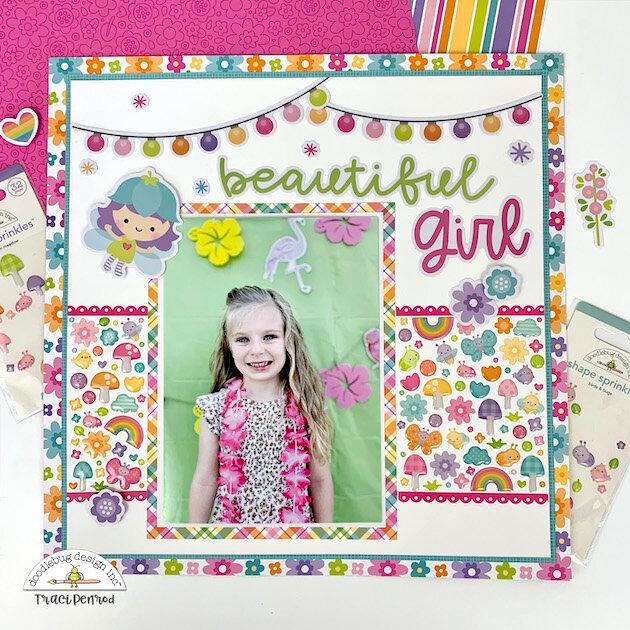 Beautiful Girl 12x12 Page Layout