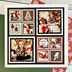 Rustic Christmas Scrapbook Page Layout