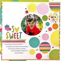 So Sweet 12x12 Scrapbook Layout