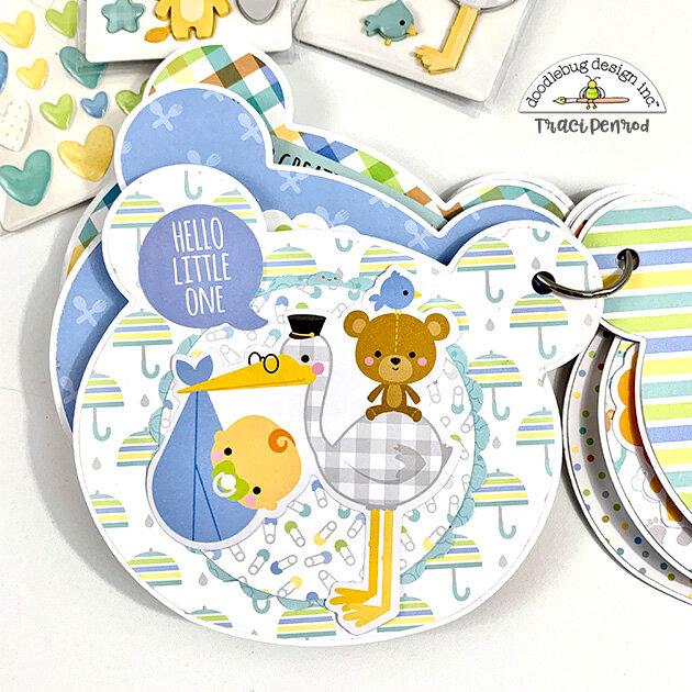 Baby Bear Mini Scrapbook Album