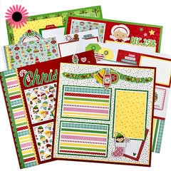 Christmas Scrapbook Page Layout Kit