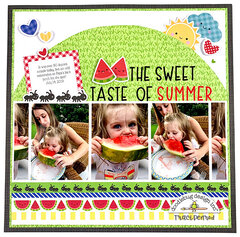 Sweet Taste of Summer 12x12 Page Layout