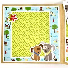 Easily Distracted By Dogs Scrapbook Album