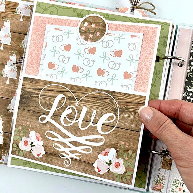 Wedding Scrapbook Album Kit