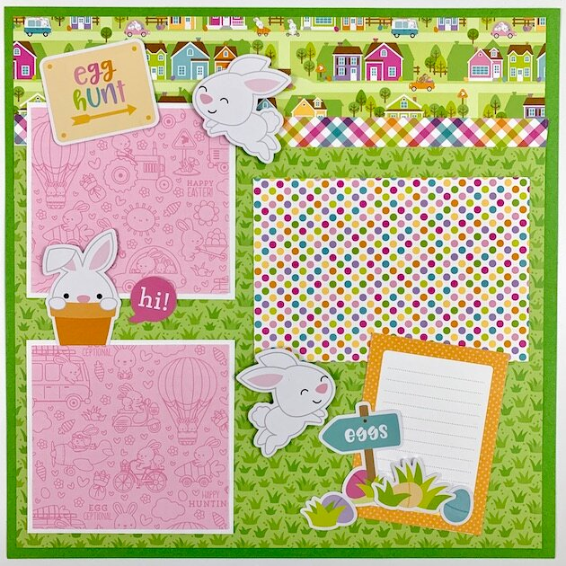 12x12 Easter Page Layout Kit
