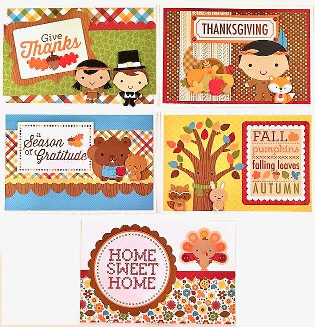 Fall Thanksgiving Pocket Cards