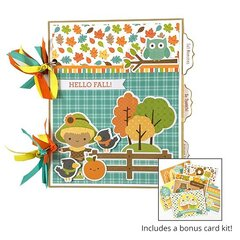 Fall Scrapbook Album Kit & Cards