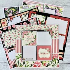 12x12 Family, Friends and Flowers Layout Kit