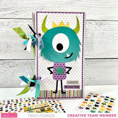 Monster Halloween Scrapbook Album