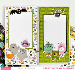 Monster Halloween Scrapbook Album