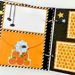 Halloween Oct 31 Scrapbook Mini Album Kit