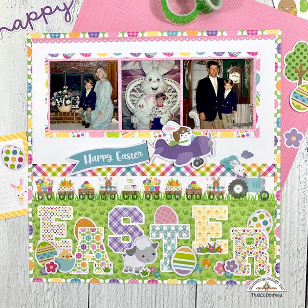 12x12 Easter Scrapbook Layout