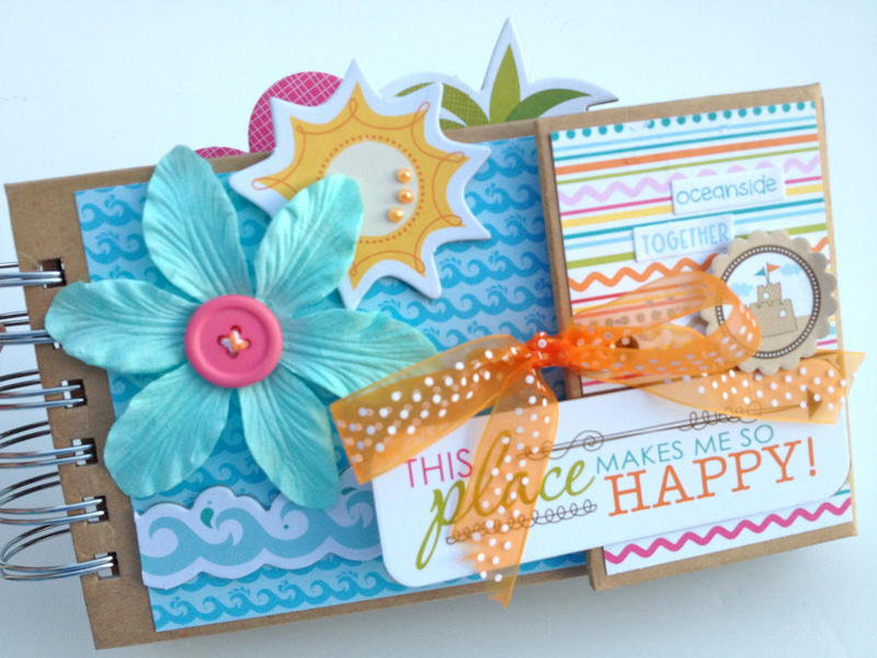 Beach Travel Mini Album Kit