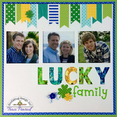 Lucky Family Layout by Traci Penrod