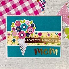 Mom & Flower Card