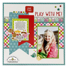 Play With Me Scrapbook Layout