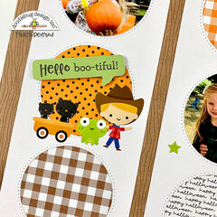 Fall Pumpkin Patch Scrapbook Page