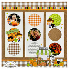 Fall Pumpkin Patch Scrapbook Page