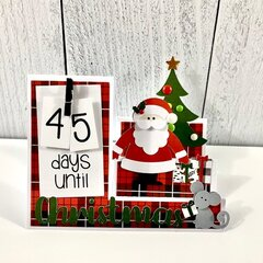 Santa Countdown Christmas Card
