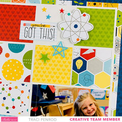 School Scrapbook Layout