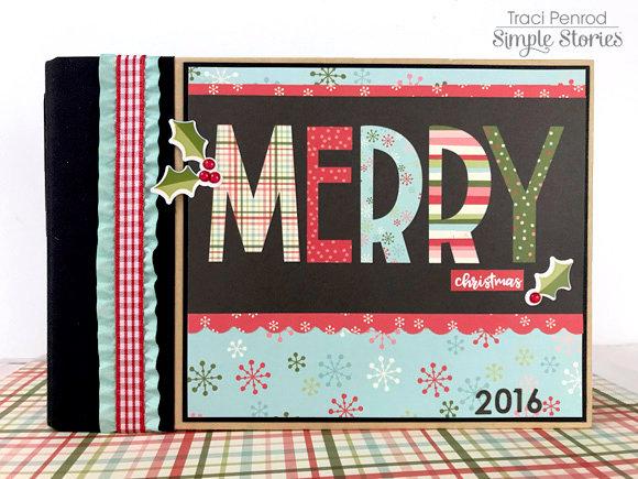 Simple Stories 4x6 Sn@p Christmas Album Oh What Fun Merry Mini