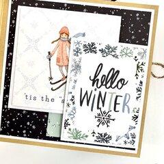 Winter Snow Scrapbook Album
