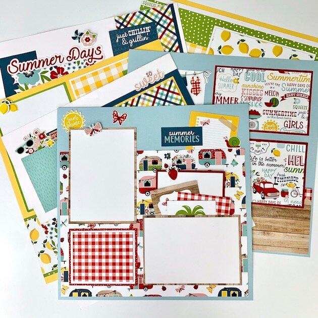 Summer Memories 12x12 Layout Kit