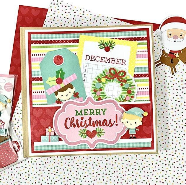 Christmas Mini Scrapbook Album Kit