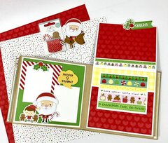 Christmas Mini Scrapbook Album Kit