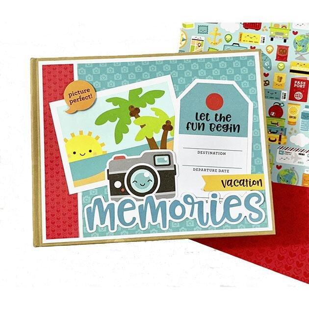 Travel Scrapbook Album Kit