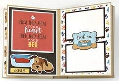Dog Puppy Scrapbook Mini Album Kit