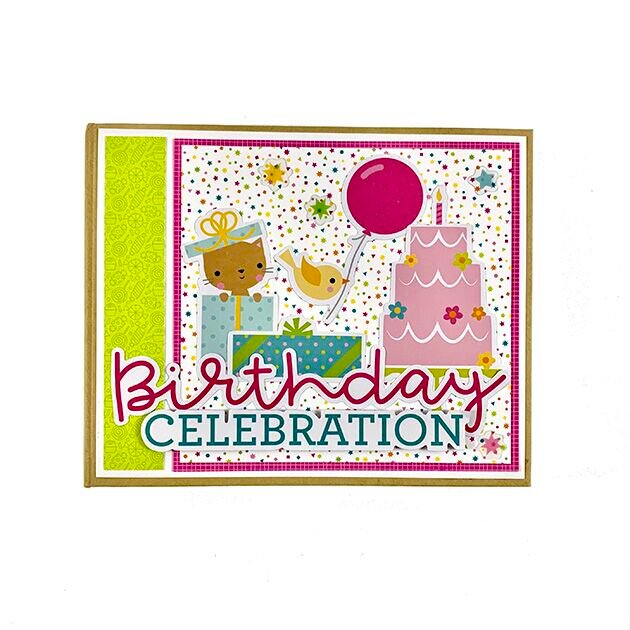 Girl Birthday Scrapbook Album Kit