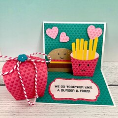 Burger & Fries Card & Treat Box