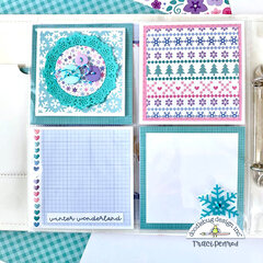 Winter Scrapbook Page Layouts