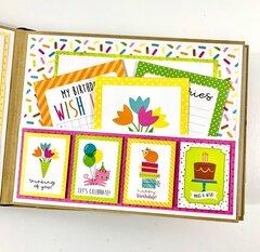 Girl Birthday Scrapbook Album Kit